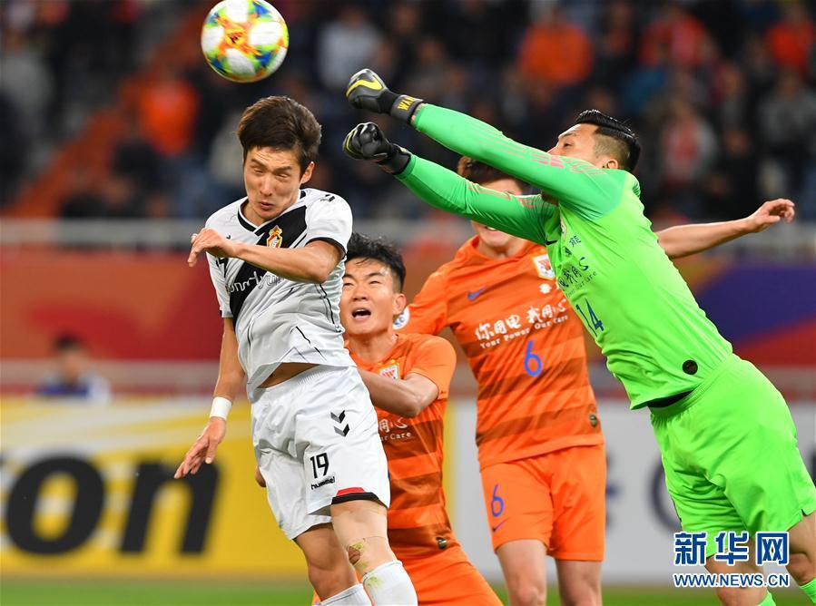 (体育)(1)足球——亚冠联赛:山东鲁能胜韩国庆南FC