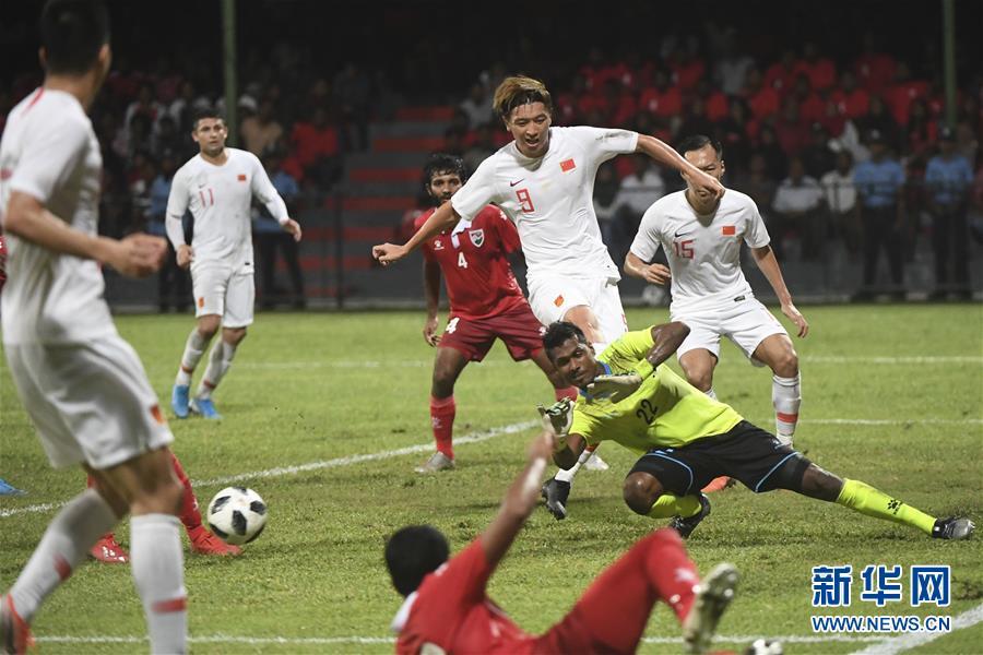(体育)(21)足球——世界杯预选赛:中国对阵马尔代夫