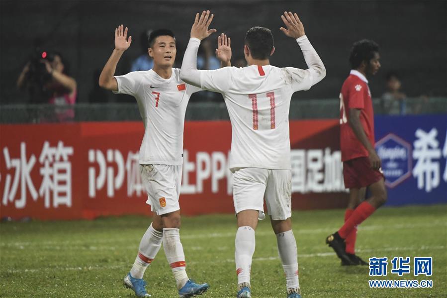 (体育)(7)足球——世界杯预选赛:中国胜马尔代夫