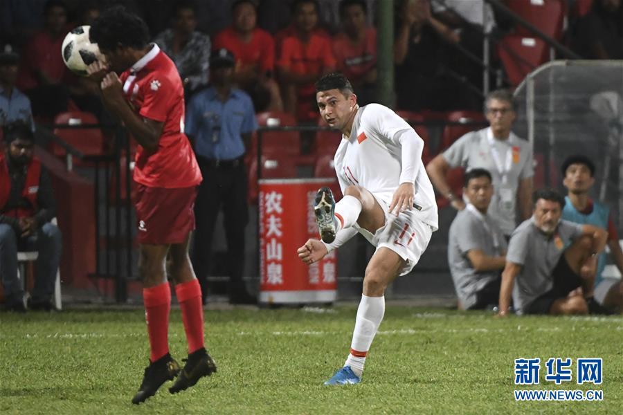 (体育)(28)足球——世界杯预选赛:中国对阵马尔代夫