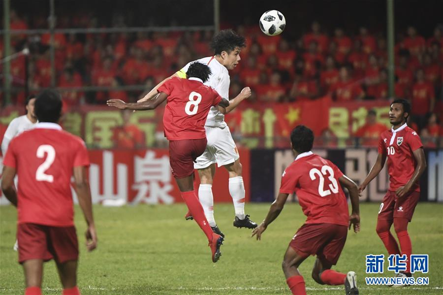 (体育)(13)足球——世界杯预选赛:中国胜马尔代夫