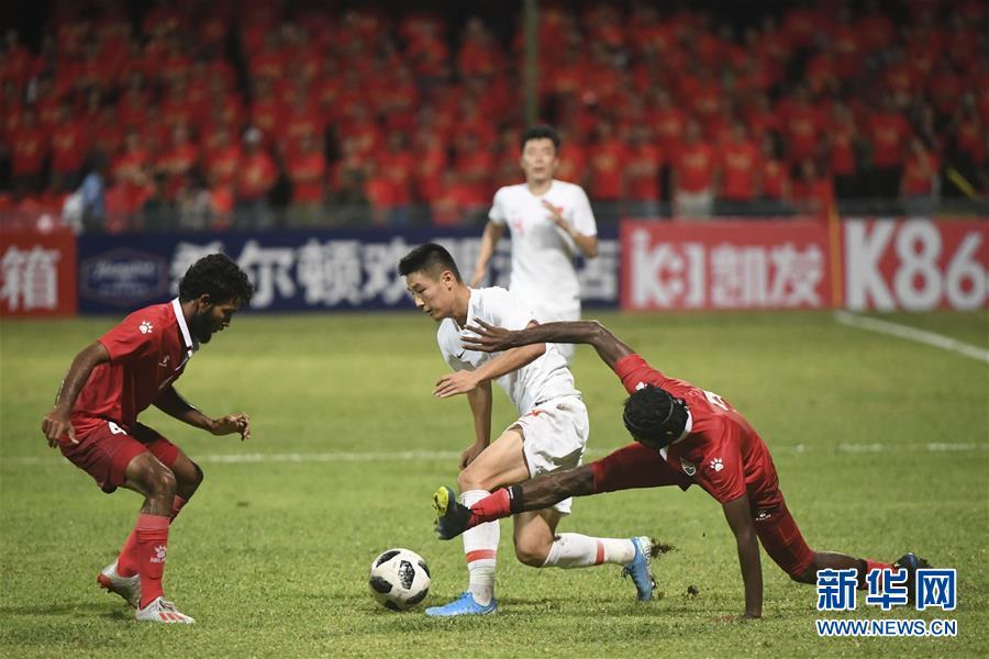 (体育)(29)足球——世界杯预选赛:中国对阵马尔代夫
