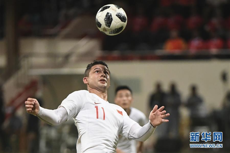 (体育)(15)足球——世界杯预选赛:中国胜马尔代夫